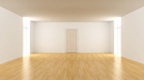Door in a empty room Royalty Free Stock Photography