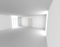 Door in a empty room Royalty Free Stock Photo