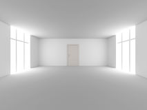 Door in a empty room Stock Photography