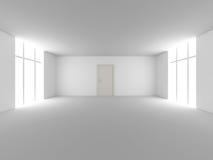 Door in a empty room royalty free illustration