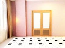 Door in the empty room Stock Photos