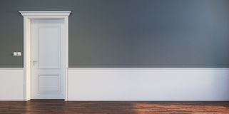 Door in empty room Royalty Free Stock Photo