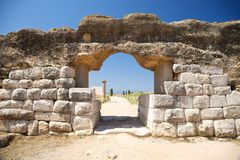 Door of Empuries ancient city Stock Photography