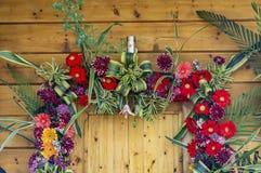 Door enterance decorated Stock Images