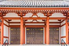 The door entrance of Buddhist pagoda at Senso-ji Temple in Tokyo Royalty Free Stock Photos