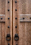 Door. Entrance door on the lock Royalty Free Stock Photos
