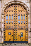 Door entrance of the Nordic museum. (Vertical Royalty Free Stock Photography