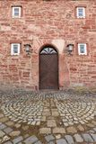 Door and entrance to the church of Herleshausen. A Door and entrance to the church of Herleshausen Royalty Free Stock Images