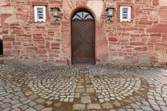 Door and entrance to the church of Herleshausen. A Door and entrance to the church of Herleshausen Stock Image