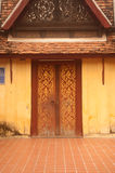 Door of entrance to church at Si Saket Temple in Vientiane ,Laos. Royalty Free Stock Photo