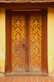 Door of entrance to church at Si Saket Temple in Vientiane ,Laos. Stock Photos