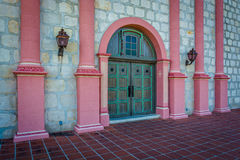 Door at the entrance to Old Mission Santa Barbara, in Santa Barb Stock Image
