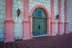 Door at the entrance to Old Mission Santa Barbara, in Santa Barb. Ara, California Stock Image