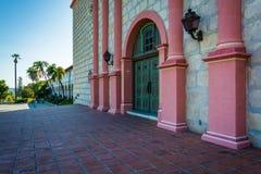 Door at the entrance to Old Mission Santa Barbara, in Santa Barb Stock Photo