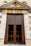 Door entry from catholic church Royalty Free Stock Images