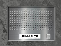 Door entry system. With push button and finance label Royalty Free Stock Photos