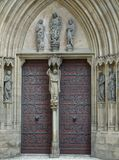 Door at the Erfurt Cathedral Stock Images