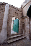 Door in Ethiopian monestary, church of the Holy Sepulchre, Jerusalem Stock Photography
