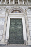 Door and Facade of Cathedral Church in Pisa Royalty Free Stock Image