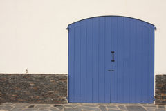 Door and facade. Mediterranean Royalty Free Stock Images
