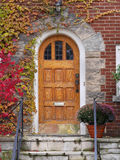 Door with fall ivy Royalty Free Stock Images