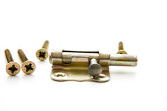 Door fastener. With on white background royalty free stock photography