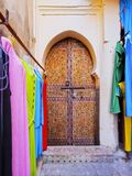 Door in Fes, Morocco Royalty Free Stock Photography