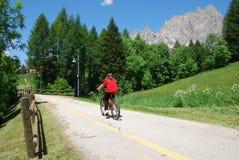 Door fiets Stock Foto's