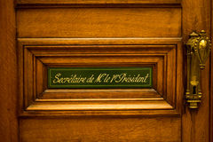 Door of the first Secretary of the president Royalty Free Stock Photo