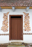 Door with a folk decoration Stock Images