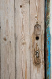 Door fragment with broken doorlock Royalty Free Stock Images