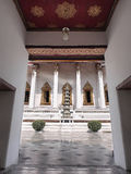 Door framed of Thai art temple. Door was placed for frame in entrance of Thai temple Stock Photo