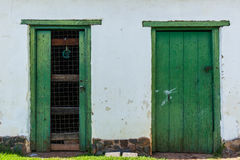 Door Frames Outside Stock Photography