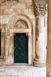 Door  with  fresco Royalty Free Stock Image