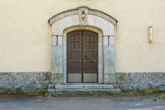 Door. The front door brown color Stock Images