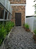 Door. In the garden Royalty Free Stock Images