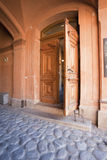 Door in A Gateway of A Historical City Turku Stock Photography