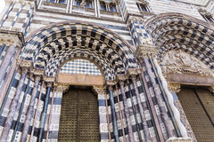 The door of the Genoa Cathedral in   Genoa, Italy Stock Image