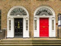 Door in the georgian house of Dublin stock images