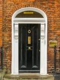 Door in the georgian house of Dublin Stock Image