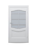 Door with glass isolated on white background. 3d rendering Royalty Free Stock Photo