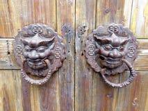 Door-god doorknob Royalty Free Stock Photography