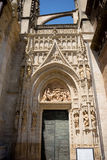 The Door of the gothic church in Seville, Spain, Europe. Door of the gothic church in Seville, Spain, Europe Stock Photo