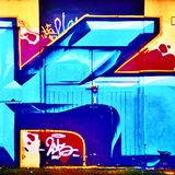 Door graffiti Royalty Free Stock Photos