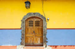 Door of Granada. Colorful door in the Colonial city of Granada, Nicaragua Stock Photos