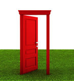 Door on a grass Stock Images