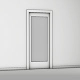 Door gray Royalty Free Stock Image