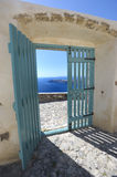 Door, greece Royalty Free Stock Photos