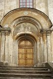 Door in greek ortodoxal church Stock Image