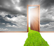 Door and green Stock Photos